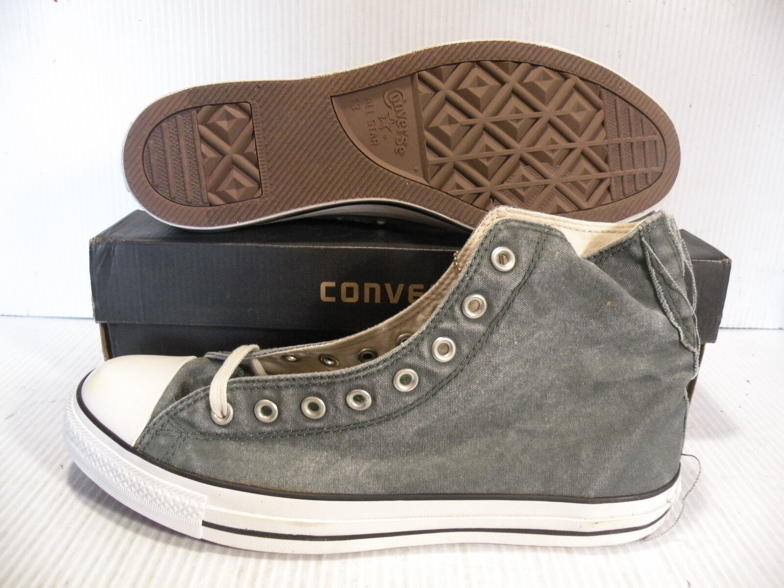 CONVERSE ALL STAR CHUCK TAYLOR DISTRESSED HI MEN SHOES GREEN AS758 SIZE 13 NEW
