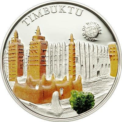 Enthusiastic Palau 2011 5$ World Of Wonders Ii Timbuktu Silver Coin Limit 2500!! Outstanding Features