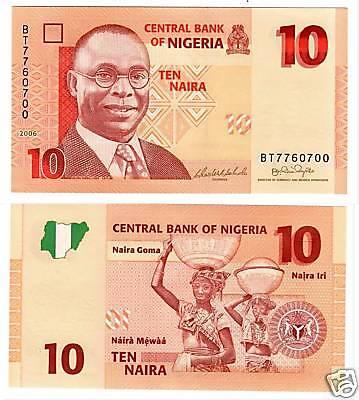 Nigeria 10 Naira 2006  UNCIRCULATED
