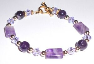 ROYALTY-BRACELET-GEMSTONE-AMETHYST-CRYSTAL-GOLD-PLATED