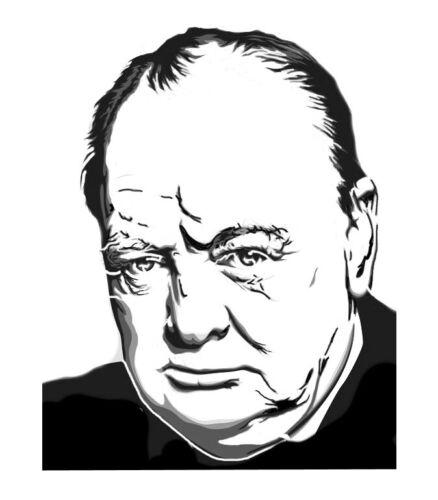 Alto detalle aerógrafo de plantilla Winston Churchill GRATIS UK FRANQUEO