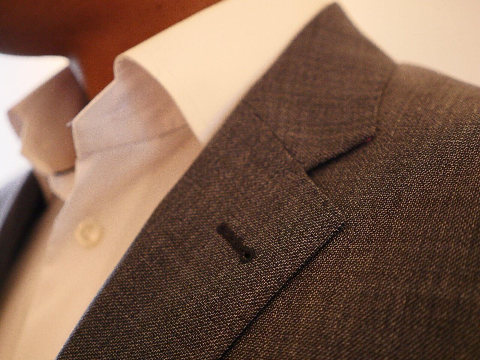 Grauer Anzug 100% Schurwolle 130 Größe 50