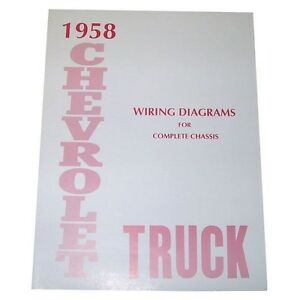 1958 wiring diagram booklet chevrolet pickup truck ebay image is loading 1958 wiring diagram booklet chevrolet pickup truck cheapraybanclubmaster Gallery