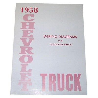 1958 chevy wiring diagram 1958 wiring diagram booklet chevrolet pickup truck ebay 1958 chevrolet wiring diagram booklet chevrolet pickup truck