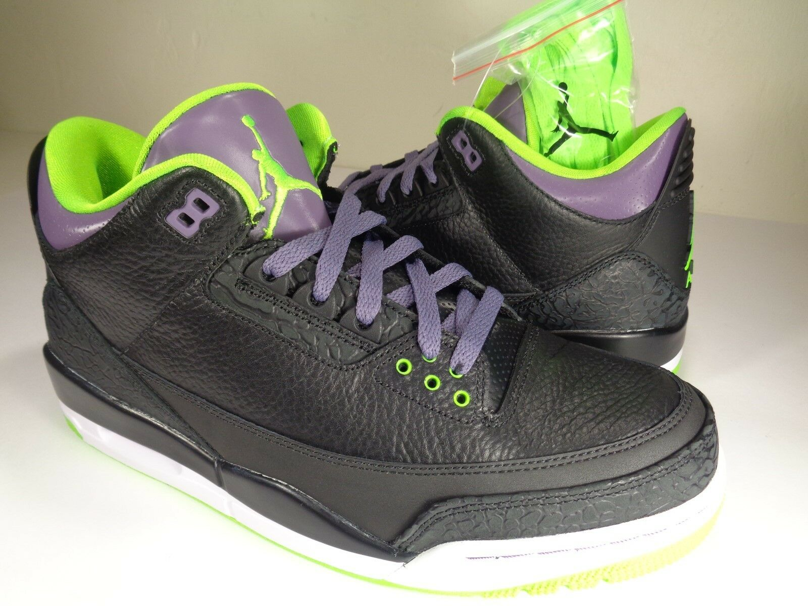 Nike Air Jordan 3 III Retro Joker Black Green Purple White Price reduction New shoes for men and women, limited time discount