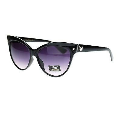 Giselle Trendy Womens Oversized Large Cat Eye Fashion Thick Plastic Sunglasses