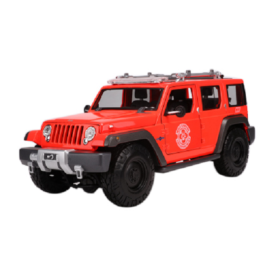 Maisto 1,18 jeep rettungs - konzept taktische ein diecast modell suv car new in box rot