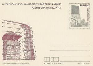 Poland prepaid postcard (Cp 745 I) WW II Auschwitz-Birkenau - Bystra Slaska, Polska - Poland prepaid postcard (Cp 745 I) WW II Auschwitz-Birkenau - Bystra Slaska, Polska