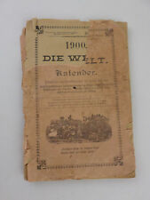 ANTIQUE German American Kalender - January 1st 1900 Vol. 2 No. 8 - Illustrated
