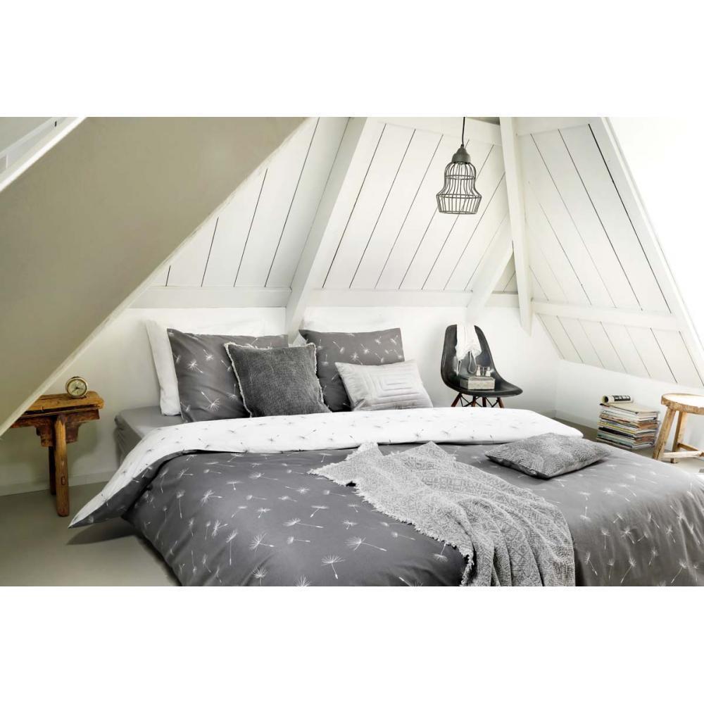 Bettbezug Wishes 155X220 cm grau - Walra - Baumwolle - Bettwäschegarnituren