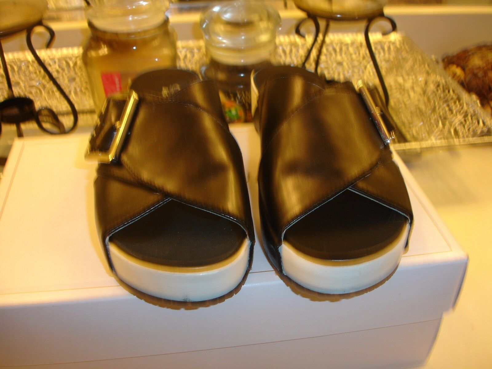 Meringue Dr Scholl's Flight nero 6.5 7 mule slide slide slide comfortable quality Nice  98 726620