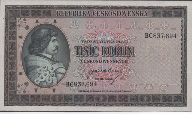 Czechoslovakia 1000  Korun  ND. 1945  P 65s  Specimen Uncirculated Banknote