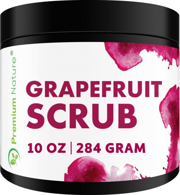 Grapefruit Body Scrub 12oz Best Skin Exfoliating For Face, Lip And Body
