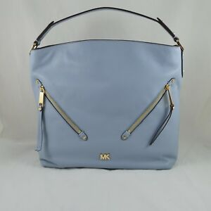 0b80538b1e6b Image is loading MICHAEL-KORS-30T8GZUH7L-EVIE-LARGE-PEBBLED-LEATHER-HOBO-