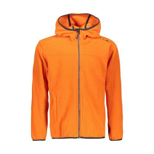 CMP Fleecejacke Jacke BOY JACKET FIX HOOD  orange atmungsaktiv wärmend