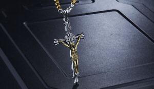3D-Silver-Gold-Pectoral-Vintage-Cross-Crucifix-Priest-Catholic-Necklace-Pendant