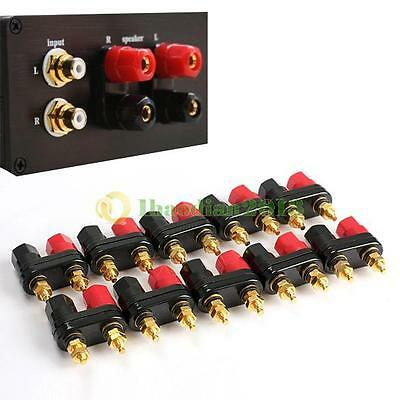 10Pcs Speaker Amplifier Terminal Binding Post Dual 2-way Banana Plug Jack NEW