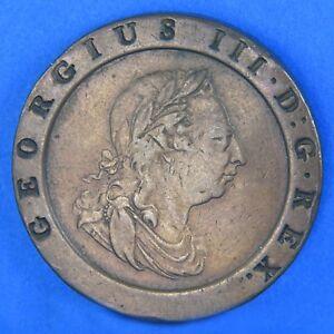 1797 Two Pence Großbritannien Britannia König George Iii Kupfer