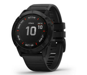 Garmin Fenix 6X Pro Multisport GPS Smartwatch 51mm Watch (Black) 010-02157-00