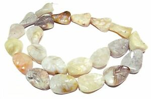 Bambus-Jaspis-gravierte-Blaetter-ca-13x18-mm-Edelstein-Perlen-Strang