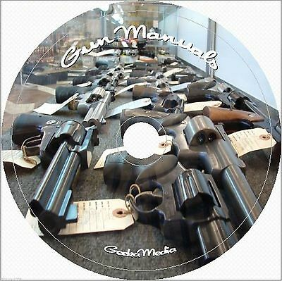 2400 Gun Manuals Gunsmith Rifle Carbine Pistol Revolver Shotgun Firearm on DVD
