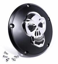 Kupplungsdeckel Totenkopf chrom / schwarz - Harley Twin Cam