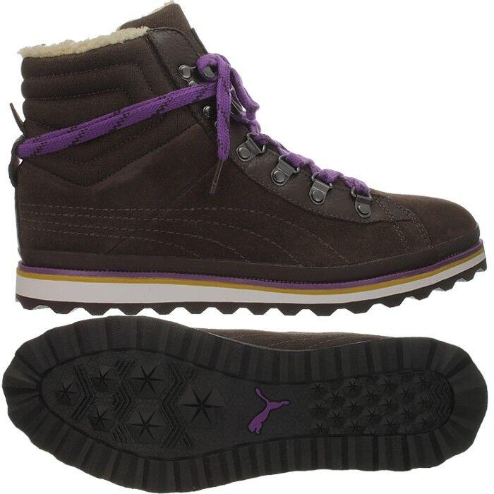 PUMA City Snow Boot women's winter boots brown beige purple booties NEW
