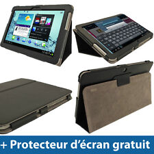 Étui Housse Noir Cuir PU pour Samsung Galaxy Tab 2 10.1 P5100 P5110 3G WiFi 4.0