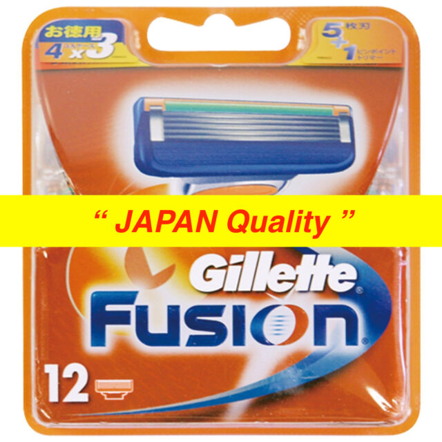 """New Gillette Fusion Razor Blade 12 Counts from """"JAPAN Quality"""" Free Shipping"""