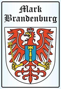 Mark-Brandenburg-Wappen-Blechschild-Schild-gewoelbt-Metal-Tin-Sign-20-x-30-cm