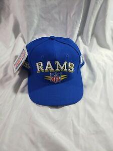 3afe78c25 NWT Vintage Rare 90's LA St Louis Rams Snapback Hat Old Helmet Logo ...