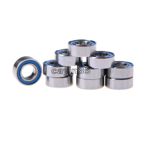 10PCS Nueva rodamientos de bolas en miniatura con cubierta de plástico azul 5*10*4mm MR105-2RS Reino Unido