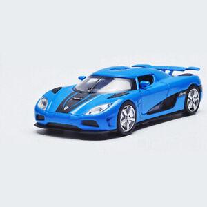 1-32-Koenigsegg-Agera-R-Metall-Die-Cast-Modellauto-Auto-Spielzeug-Blau-Sammlung