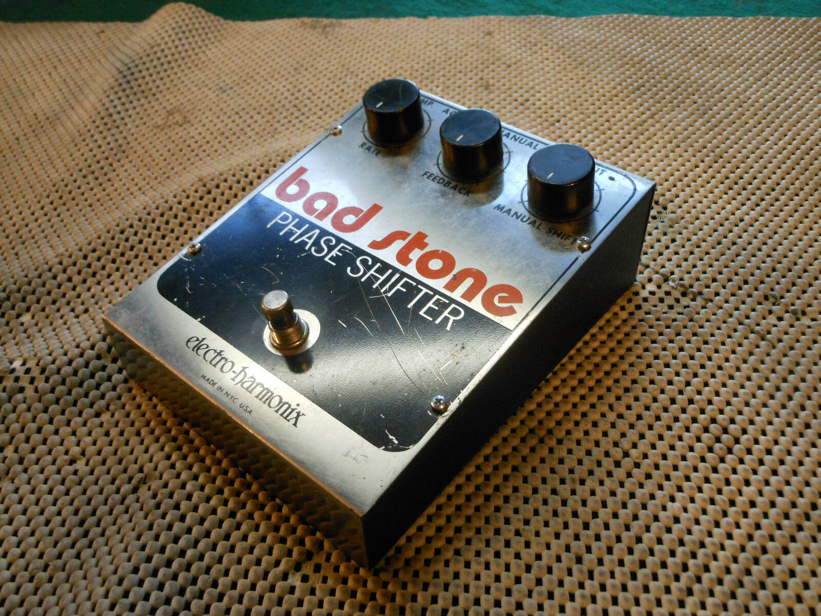 1980 Vintage Electro Harmonix Effect Pedal Bad Stone Phaze Shifter Large Box US