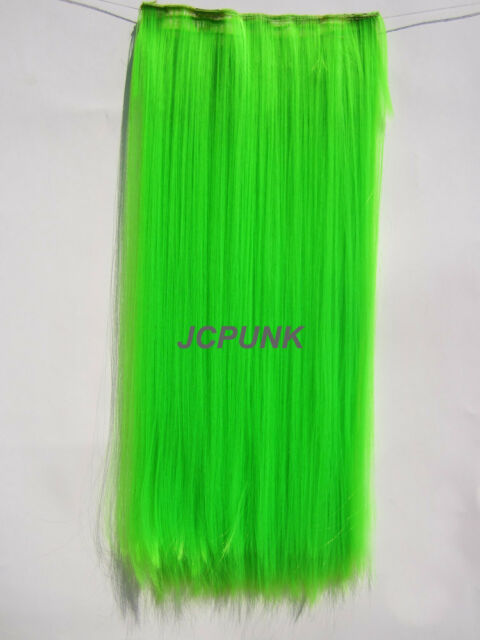 60Colors One Piece Colorful Hair Extensions Curly Straight 5clips