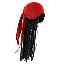 Pirate Cap & Wig Captain Jack Sparrow Pirates Caribbean Adult Halloween Costume