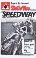 BELLE VUE MANCHESTERVWHITE CITYSpeedway ProgrammeJul91977