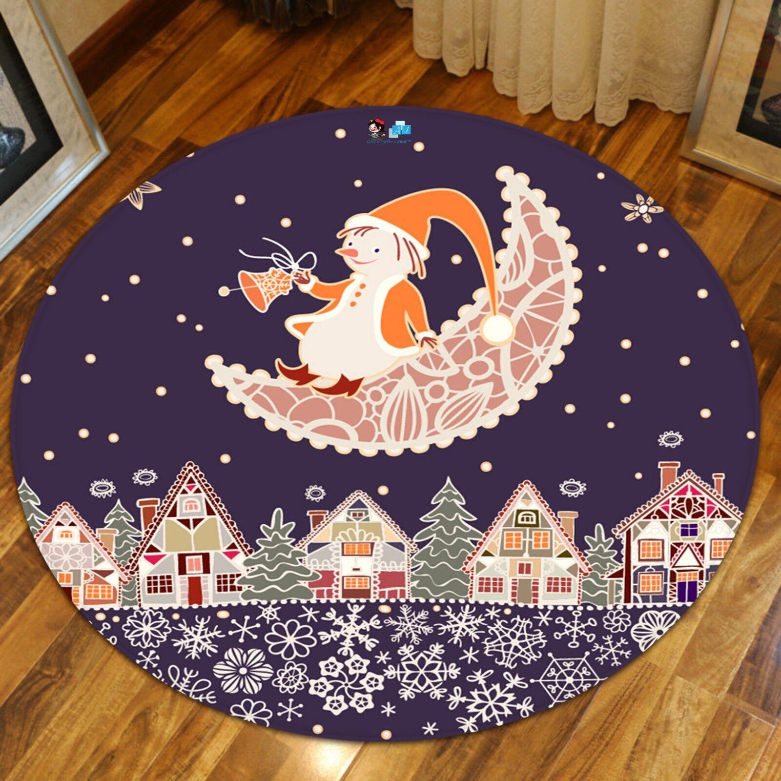 3D Natale Xmas Cartoon 123 tappetino antiscivolo tappeto camera tappetino tappeto rossoondo elegante UK