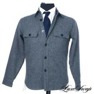 LNWOT-Sunny-Sports-Made-in-Japan-Mid-Grey-Flannel-Chainstitched-Jacket-Shirt-S
