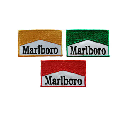558fc0a50 DIY 3pcs Logo Marlboro Patch Embroidered Iron or Sew on  Coat/Jacket/bag/hat/Jean | eBay