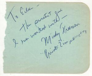 Mickey-Freeman-Cut-Signature-Autograph-Phil-Silvers-Sgt-Bilko-Private-Zimmerman