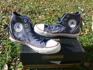 Converse-All-Star-Ct-Triple-Zip-Hi-Navy-scarpa-donna-ragazza-numero-36