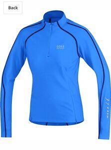 GORE-BIKE-WEAR-Women-039-s-Size-M-CONTEST-THERMO-HALF-ZIP-CYCLING-JERSEY-Blue