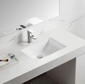 """21"""" x 15"""" Rectangular Ceramic Contemporary Undermount ..."""