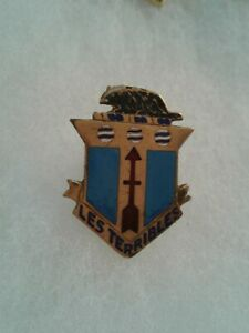 Authentic-WWII-US-Army-128th-Infantry-Regiment-DI-DUI-Crest-Insignia