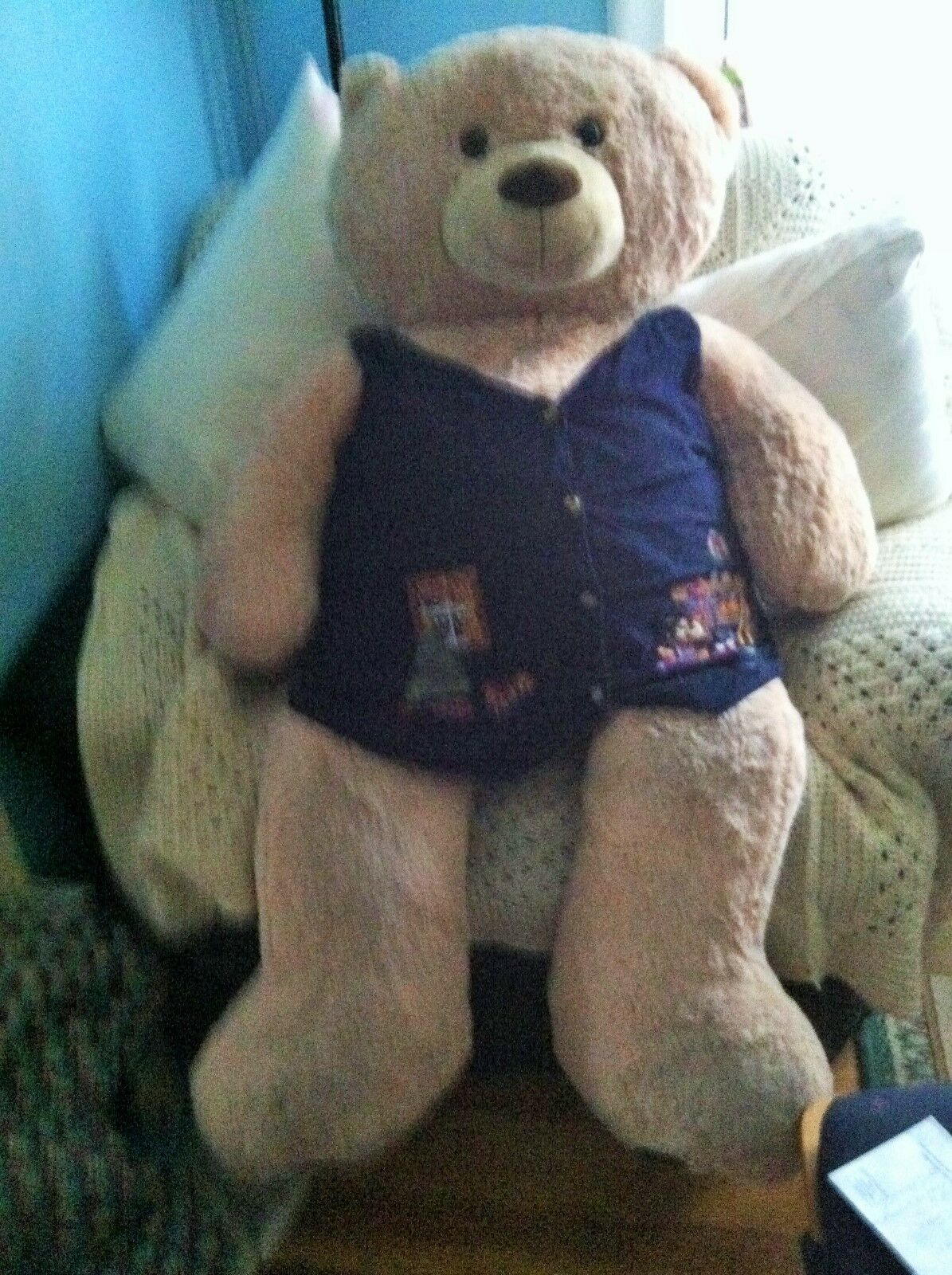 Super JUMBO LARGE  BEAR  approx 52 IN Best Made Toys RARE  HARD TO FIND