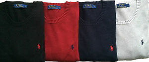 Ralph-Lauren-Men-039-s-Crew-Neck-Jumpers-Cardigan-Pullover-Cotton-RRP-135