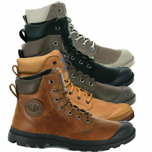 Palladium Mens Pampa Cuff Lux Designer Waterproof Leather Walking Boots Shoes