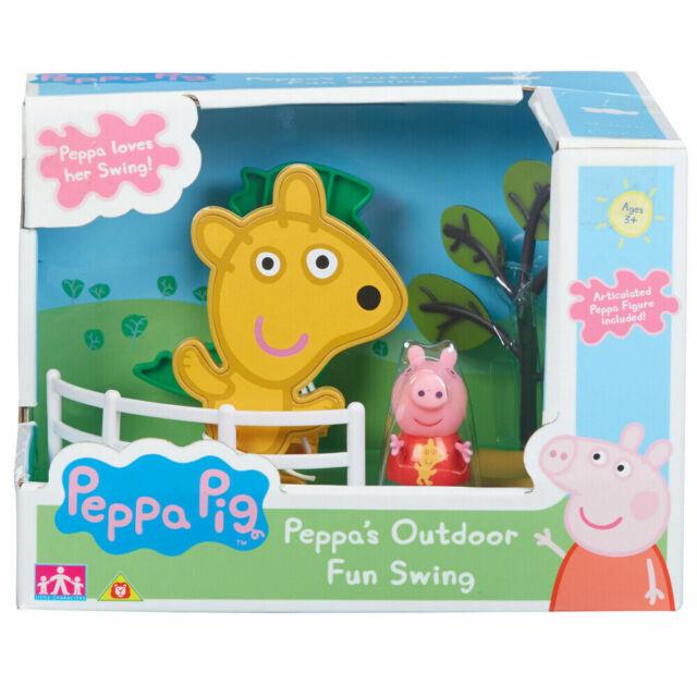 Peppa Pig Exterior Diversión Swing Set Juguetes con Figura Parque Infantil Juego