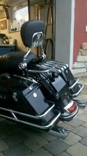 New Stealth Luggage Rack w/ Backrest sissy bar  For Harley Touring 2009-2013